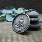 Naszyjniki yoga,srebrny,joga,zen,azjatycki,lotus