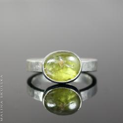 sfen,młotkowany,delikatny pierścionek - Pierścionki - Biżuteria