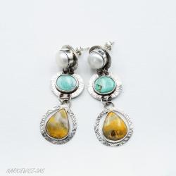 Kolczyki na sztyftach w pastelowych kolorach - Kolczyki - Biżuteria