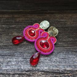 eleganckie kolczyki,sutaszowe kolczyki - Kolczyki - Biżuteria