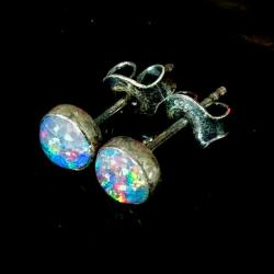 opale,blsk,tęczowe,delikatne,minimalizm,kolory, - Kolczyki - Biżuteria