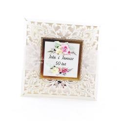 rocznica,ślub,złote gody,małżeństwo - Kartki okolicznościowe - Akcesoria