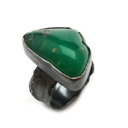 chryzopraz,blask,zielony,pastelowy,kamień,srebro, - Pierścionki - Biżuteria