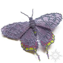 motyl,broszka,owad,ćma,romantyczna,misterna,fiolet - Broszki - Biżuteria