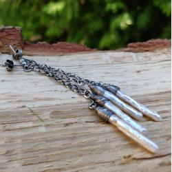 delikatne,perłowe,długie - Kolczyki - Biżuteria