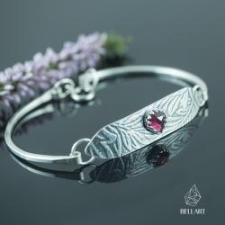 granat,liście,elegancka,wzorzysta, - Bransoletki - Biżuteria