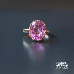 topaz,pierścionek,pozłacany - Pierścionki - Biżuteria