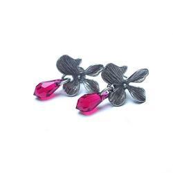 kwiaty,romantyczne,sztyfty,orchidea - Kolczyki - Biżuteria