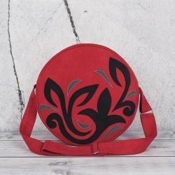 torebka okrągła,torebka na ramię,torebka czerwona - Na ramię - Torebki