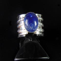 pierścionek srebrny z tanzanitem - Pierścionki - Biżuteria