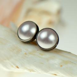 perłowe sztyfty, - Kolczyki - Biżuteria