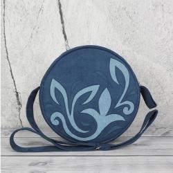 torebka okrągła,torebka na ramię,torebka niebieska - Na ramię - Torebki