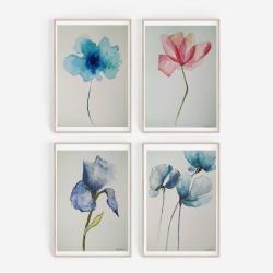 akwarela,kwiaty - Obrazy - Wyposażenie wnętrz