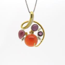 unikatowy wisiorek,dla niej,walentynki - Wisiory - Biżuteria