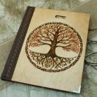 Notesy szkicownik,notatnik,pirografia,drzewo