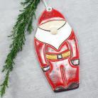Ceramika i szkło Mikołaj,ozdoba świąteczna,zawieszka ceramiczna