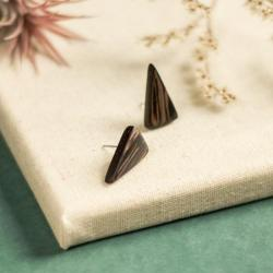 drewniane kolczyki,kolczyki na sztyft,wenge - Kolczyki - Biżuteria