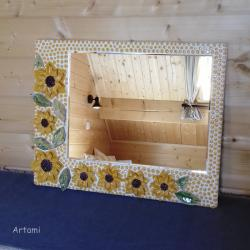 mozaika ceramiczna lustro ceramika rzeżba - Ceramika i szkło - Wyposażenie wnętrz