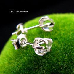 nehesi,kolczyki,srebrne,herkimerem,wkrętki,sztyfty - Kolczyki - Biżuteria