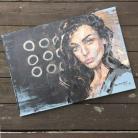 Obrazy akryl,portret,malarstwo,sztuka,obraz,wnętrze