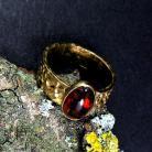 Pierścionki pierścionek srebrny z opalem