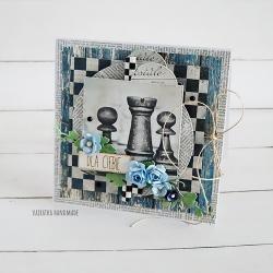 urodziny,imieniny,szachy,mężczyzna, - Kartki okolicznościowe - Akcesoria