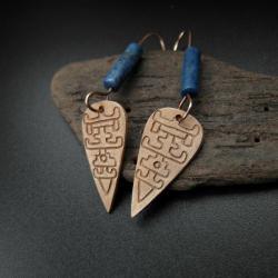 kolczyki,etno,biżuteria autorska,rękodzieło - Kolczyki - Biżuteria