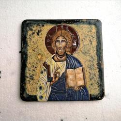 Beata Kmieć,ikona ceramiczna,Chrystus,Jezus - Ceramika i szkło - Wyposażenie wnętrz