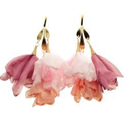 kolczyki,kwiaty,długie,lekkie,do sukienki - Kolczyki - Biżuteria