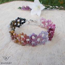 kolorowa,nowoczesna,turmaliny,JewelsbyKT - Bransoletki - Biżuteria