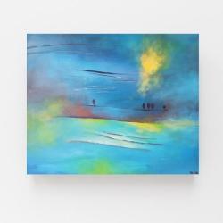obraz,pejzaż,drzewa,płótno,akryl - Obrazy - Wyposażenie wnętrz