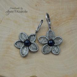 kolczyki,szafir,kwiatki,kwiaty - Kolczyki - Biżuteria