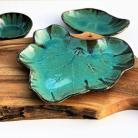 Ceramika i szkło ceramika hand made,patera,talerz,liść,