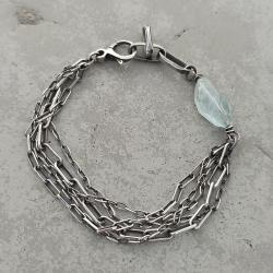 bransoletka z kamieniem naturalnym,surowa - Bransoletki - Biżuteria