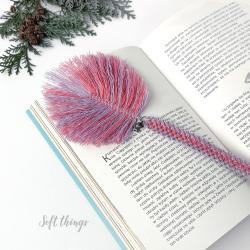 zakładka do książki miś prezent na Święta,makrama - Zakładki do książek - Akcesoria
