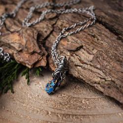 kwarc tytanowy,aura,wisiorek,talizman,amulet - Wisiory - Biżuteria