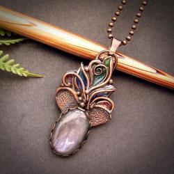 Baśniowy Naszyjnik z Fioletowym Labradorytem - Naszyjniki - Biżuteria