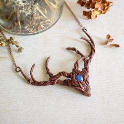 leśny naszyjnik,naszyjnik rogi,elficki naszyjnik - Naszyjniki - Biżuteria