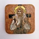 Ceramika i szkło Beata Kmieć,ikona ceramiczna,Pasterz,Jezus