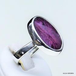 pierścionek z rubinem,srebro,biżuteria,pierścionki - Pierścionki - Biżuteria