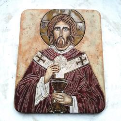 Beata Kmieć,ikona ceramiczna,kapłan,Jezus - Ceramika i szkło - Wyposażenie wnętrz