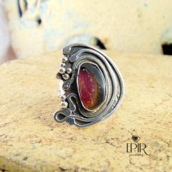 Pierścionek srerbny z turmalinem - Pierścionki - Biżuteria