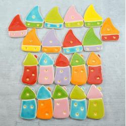 domek,kolorowe,energetyczne - Ceramika i szkło - Wyposażenie wnętrz