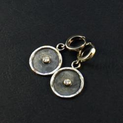 srebrne kolczyki z cyrkonią - Kolczyki - Biżuteria