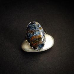 pietersyt pierścionek srebrny, - Pierścionki - Biżuteria