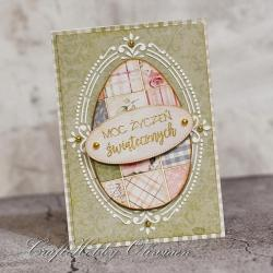 Wielkanoc,życzenia,pisanka,kartka - Kartki okolicznościowe - Akcesoria