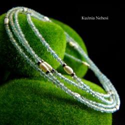 nehesi,naszyjnik,wisior,srebrny,akwamarynem,perła - Naszyjniki - Biżuteria