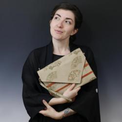 elegancka torebka,kopertówka z japońskiej tkaniny - Do ręki - Torebki