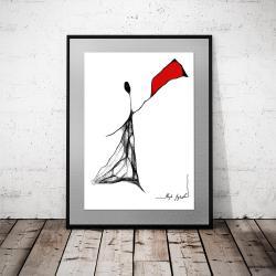 grafika,nowoczesny rysunek,dekoracja na ścianę - Ilustracje, rysunki, fotografia - Wyposażenie wnętrz