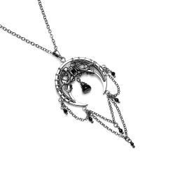 księżycowy wisiorek,amulet,talizman,srebro - Naszyjniki - Biżuteria